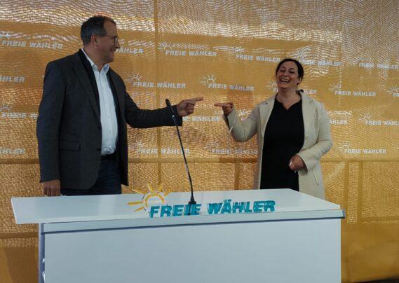 Freie Wähler Alexander Hold und Birgit Obermaier
