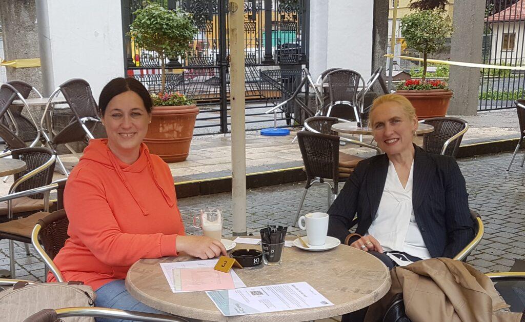 Birgit Obermaier zu Besuch bei Annette Hauser-Felberbaum