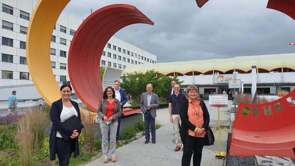 Die Freien Wähler Erding besuchen zur Infoveranstaltung das Klinikum Erding
